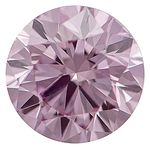 Medium Raspberry Pink Round Created Diamond 0.46 Ct.
