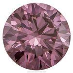 Grape Color Round Created Diamond 0.59 Ct.