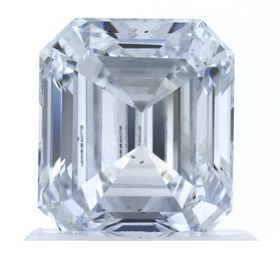 Colorless Emerald Cut Created Diamond 1.03 Ct.
