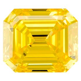 Canary Yellow Emerald Cut Renaissance Created Diamond 1.42 Ct.