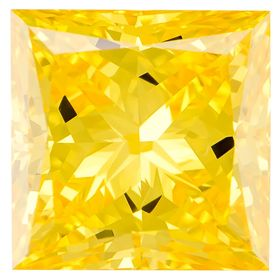 Canary Yellow Princess Cut Renaissance Created Diamond 1.47 Ct.