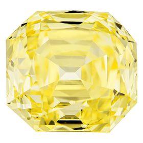 Canary Yellow Renaissance  Cut Renaissance Created Diamond 1.06 Ct.