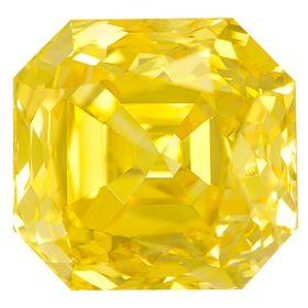 Canary Yellow Renaissance  Cut Renaissance Created Diamond 1.4 Ct.