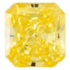 Canary Yellow Radiant Cut Renaissance Created Diamond 1.54 Ct.