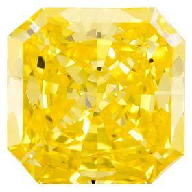Canary Yellow Radiant Cut Renaissance Created Diamond 1.29 Ct.