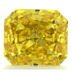 Canary Yellow Radiant Cut Renaissance Created Diamond 1.33 Ct.