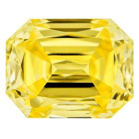Canary Yellow Renaissance  Cut Renaissance Created Diamond 1.08 Ct.