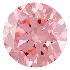 Bubble Gum Pink Round Created Diamond 0.77 Ct.