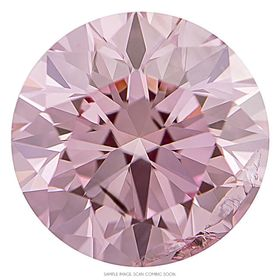 Light Raspberry Pink Round Created Diamond 0.92 Cts.