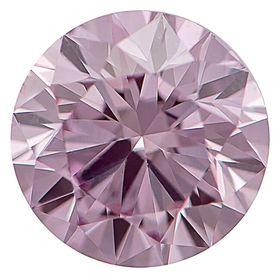 Medium Raspberry Pink Round Created Diamond 0.70 Ct.